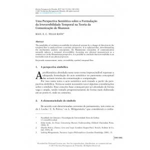 Uma Perspectiva Semiótica sobre a Formulação da Irreversibilidade Temporal na Teoria da Comunicação de Shannon