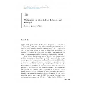 Os Jesuítas e a Liberdade de Educação em Portugal