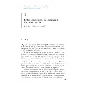 Linhas Características da Pedagogia da Companhia de Jesus