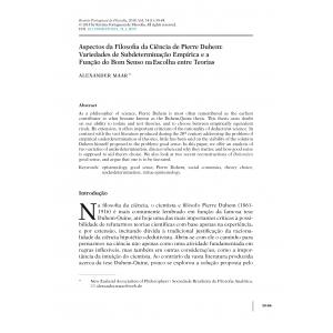 Aspectos da Filosofia da Ciência de Pierre Duhem