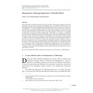 Management, Liderazgo Ignaciano y Filosofía Moral
