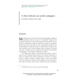 A Ratio Studiorum, um modelo pedagógico