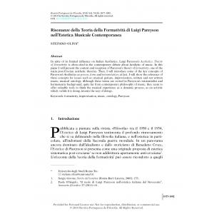 Risonanze della Teoria della Formatività di Luigi Pareyson nell'Estetica Musicale Contemporanea