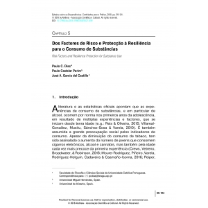 Dos Factores de Risco e Protecção à Resiliência para o Consumo de Substâncias