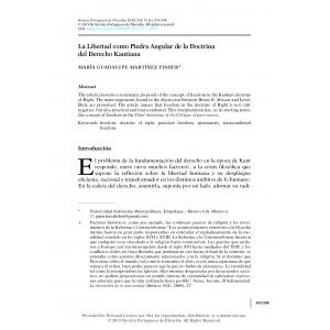La Libertad como Piedra Angular de la Doctrina del Derecho Kantiana