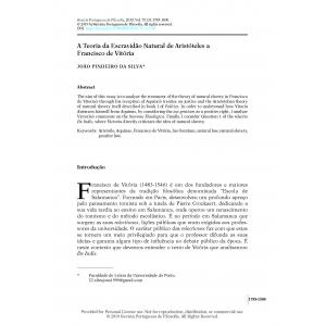 A Teoria da Escravidão Natural de Aristóteles a Francisco de Vitória