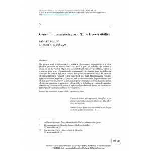 Causation, Symmetry and Time Irreversibility