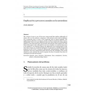 Explicación y procesos causales en la naturaleza