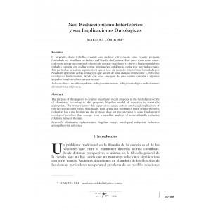 Neo-Reduccionismo Interteórico y sus Implicaciones Ontológicas