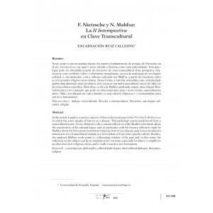 F. Nietzsche y N. Mahfuz: La II Intempestiva en Clave Transcultural