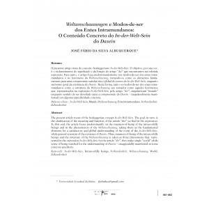 Weltanschauungen e Modos-de-ser dos Entes Intramundanos: O Conteúdo Concreto do In-der-Welt-Sein do Dasein