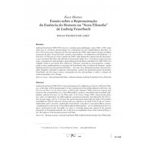 """Ecce Homo: Ensaio sobre a Representação da Essência do Homem na """"Nova Filosofia"""" de Ludwig Feuerbach"""