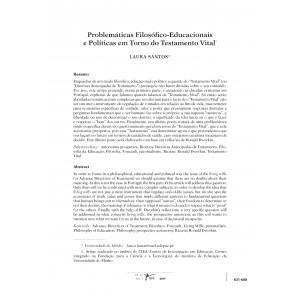Problemáticas Filosófico-Educacionais e Políticas em Torno do Testamento Vital