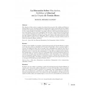 La Discusión Sobre la Vita Activa y Libertad en La Utopía de Tomás Moro