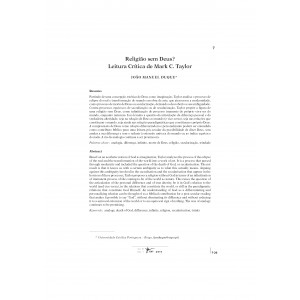 Religião sem Deus? Leitura Crítica de Mark C. Taylor