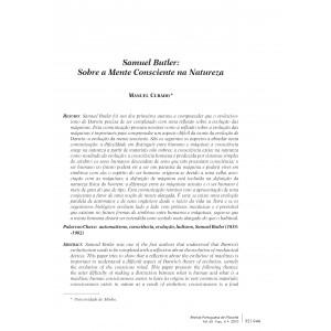Samuel Butler: Sobre a Mente Consciente na Natureza