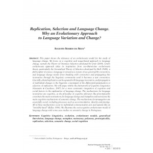 Replication, Selection and Language Change: Why an Evolutionary Approach to Language Variation and Change?