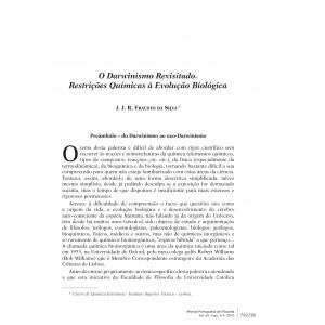 O Darwinismo Revisitado: Restrições Químicas à Evolução Biológica