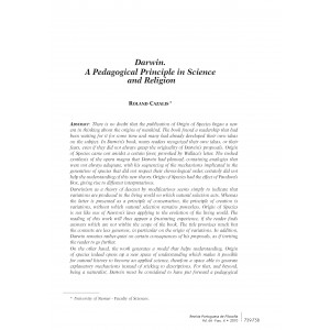 Darwin: A Pedagogical Principle in Science and Religion