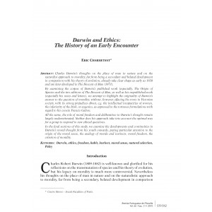 Darwin and Ethics: The History of an Early Encounter