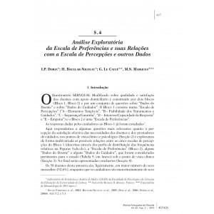 Análise Exploratória da Escala de Preferências e suas Relações com a Escala de Percepções e Outros Dados