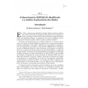 O Questionário SERVQUAL Modificado e a Análise Exploratória dos Dados