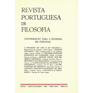 Contribuição para a Filosofia em Portugal