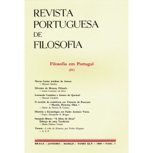 Filosofia em Portugal IV