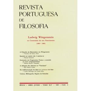 Ludwig Wittgenstein: no Centenário do seu Nascimento 1889-1989