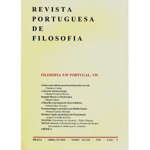 Filosofia em Portugal VII