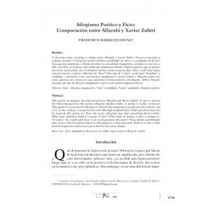 Silogismo Poético y Ficto: Comparación entre Alfarabi y Xavier Zubiri