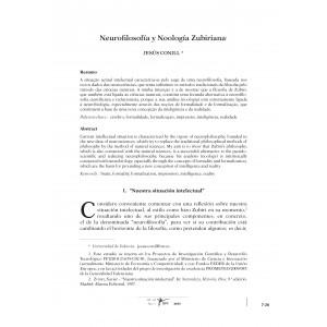Neurofilosofia y Noología Zubiriana