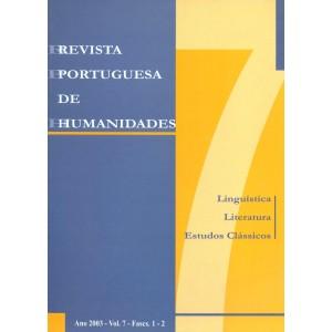 Revista Portuguesa de Humanidades, Vol. 7, 2003