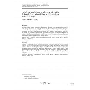 La Influencia de la Fenomenología de la Religión de Rudolf Otto y Mircea Eliade en el Pensamiento de Peter Berger