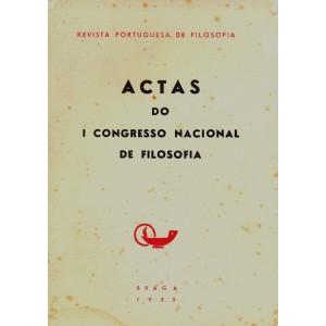 Actas do I Congresso Nacional de Filosofia