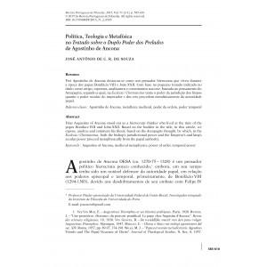 Política, Teologia e Metafísica no Tratado sobre o Duplo Poder dos Prelados