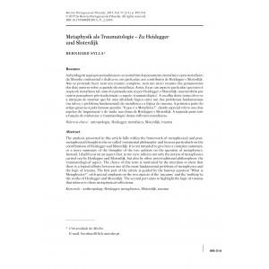 Metaphysik als Traumatologie  Zu Heidegger und Sloterdijk