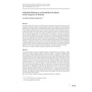 Individual Substances and Individual Accidents in the Categories of Aristotle