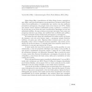 Book Review - Valter Hugo Mãe – A desumanização