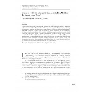 Omnia in Verbis: El origen y Evolución de la Idea/Metáfora del Mundo como Texto