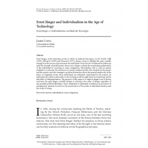 Ernst Jünger and Individualism in the Age of Technology