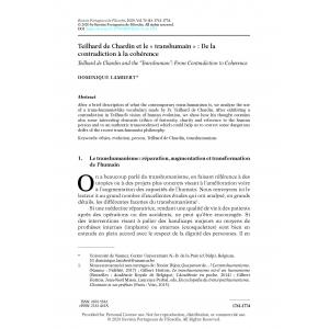 Teilhard de Chardin et le « transhumain » : De la contradiction à la cohérence