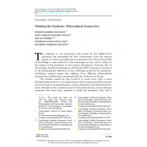 Thinking the Pandemic: Philosophical Perspectives