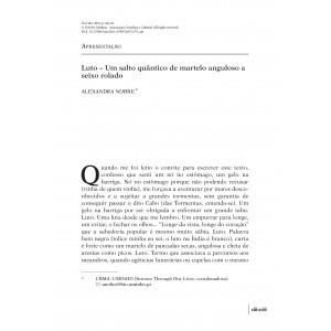 Apresentação. Luto – Um salto quântico de martelo anguloso a seixo rolado