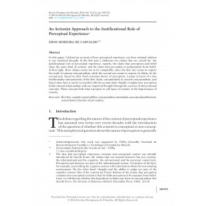 An Actionist Approach to the Justificational Role of Perceptual Experience