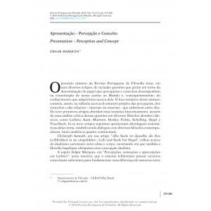 Apresentação: Percepção e Conceito