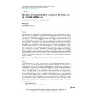 Visão dos profissionais sobre as relações de vinculação no contexto institucional