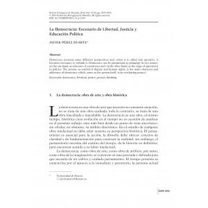 La Democracia: Escenario de Libertad, Justicia y Educación Política