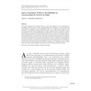Ação e Linguagem: Política e Sociabilidade na Fenomenologia do Espírito de Hegel