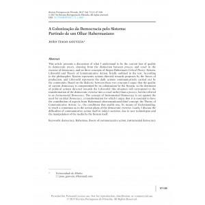 A Colonização da Democracia pelo Sistema: Partindo de um Olhar Habermasiano